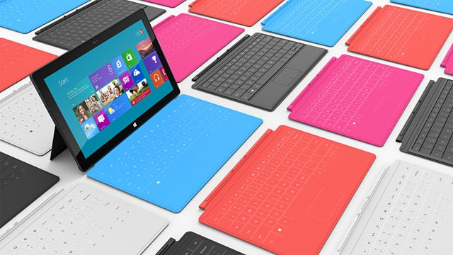Surface tablets with alternate keyboards